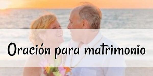 Oración para matrimonio